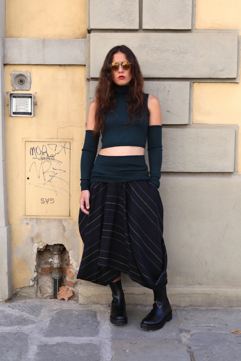 MM6 knitwear and boots + societe anonyme skirt   automn winter collection 2016