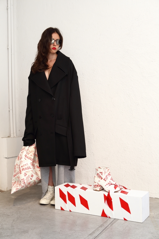 MM6 Maison Margiela aw17 coat, bag, shoes and gym trousers