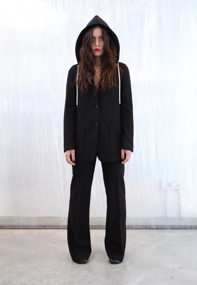 Helmut Lang Hoodie Suit + MM6 by Maison Margiela boots