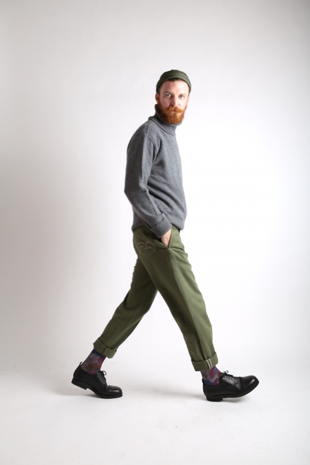 Société Anonyme trousers+turtle neck+derbies