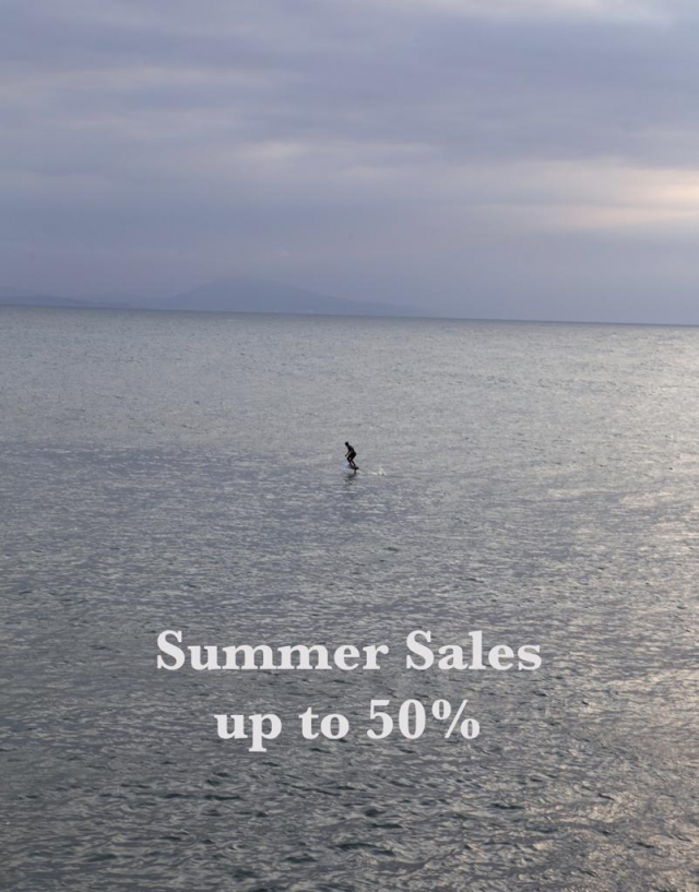 Summer Sales in store! Up to 50% from Saturday 1st of August