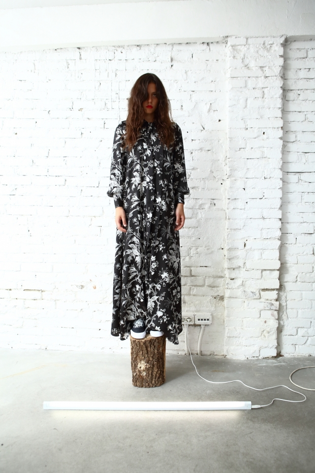 AW17 MCQ by Alexander McQueen dress + Vans Vault